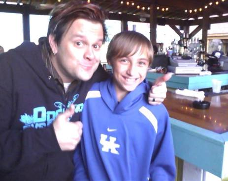 My son at his first concert with Jaret from Bowling for Soup